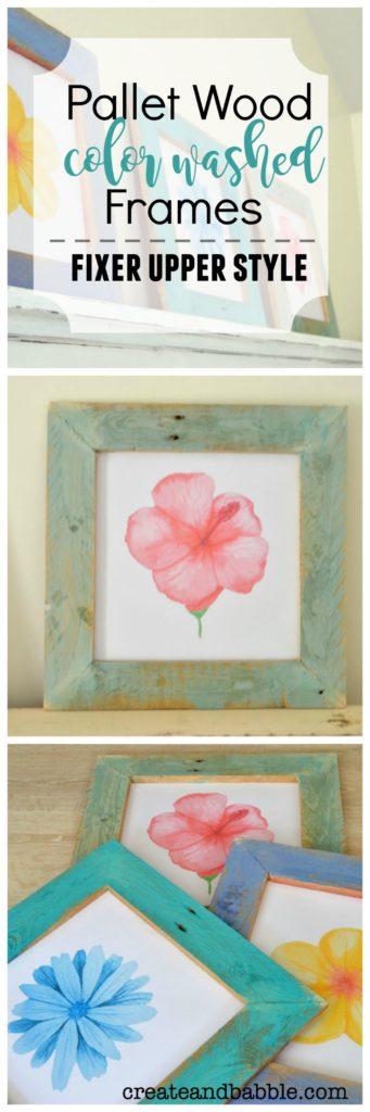 Pallet Wood Color Washed Frames