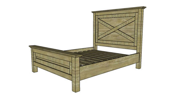 free farmhouse bed plans