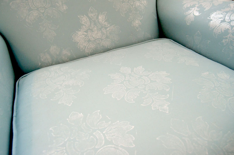 how to use iod decor stamps on upholstered furniture