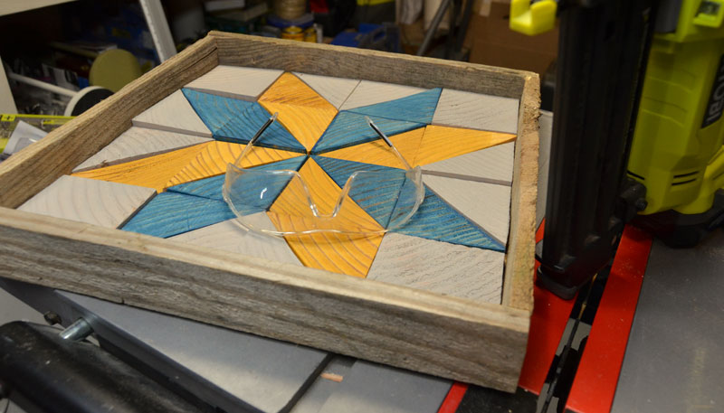 how to build a quilt star wooden tray