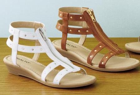 Chadwicks of Boston front zip gladiator sandals