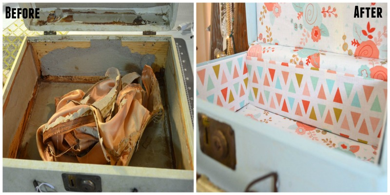 Thrift Store Upcycle Suitcase Makeover