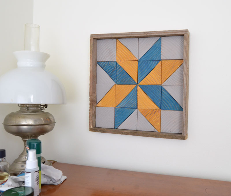 diy wooden quilt star design tray