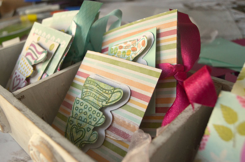 How to make tea bag cards with your Cricut Explore Air