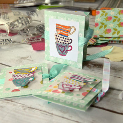 Make Tea Bag Cards with Cricut Explore Air