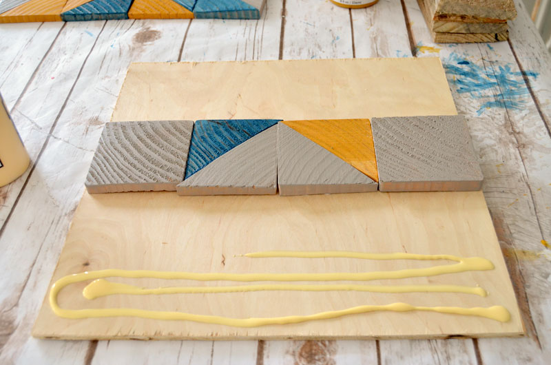 quilt star wood tray