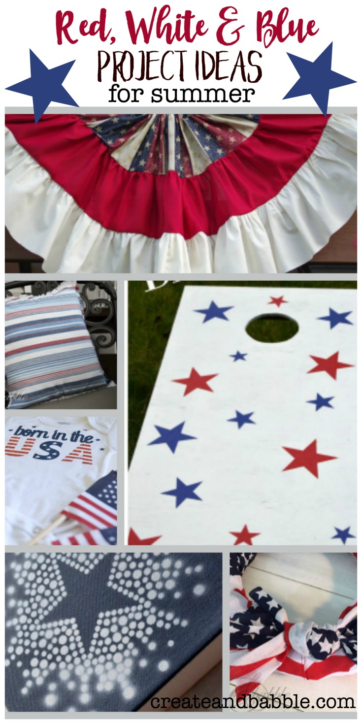 red white and blue ideas for summer holidays