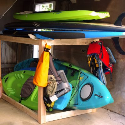 Kayak and SUP Storage Rack – A Simple DIY Project