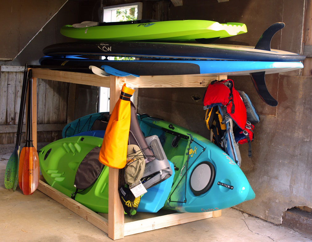 Kayak And Sup Storage Rack A Simple Diy Project Create And Babble