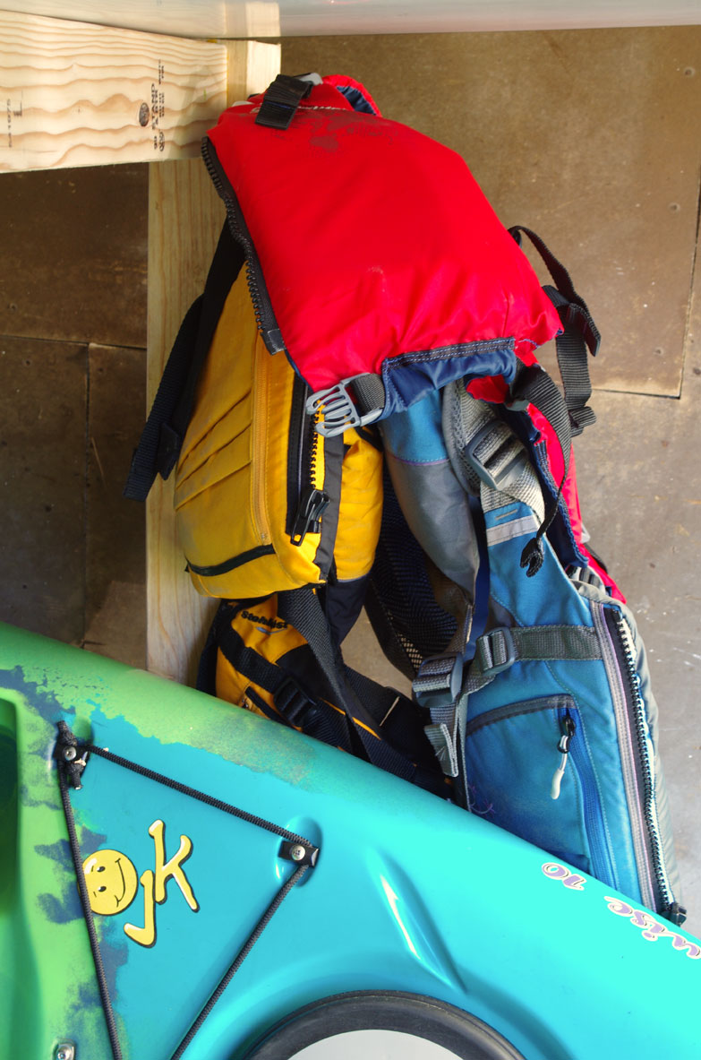 diy kayak and sup storage rack