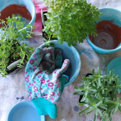 How to Make Weather Worn Clay Pots