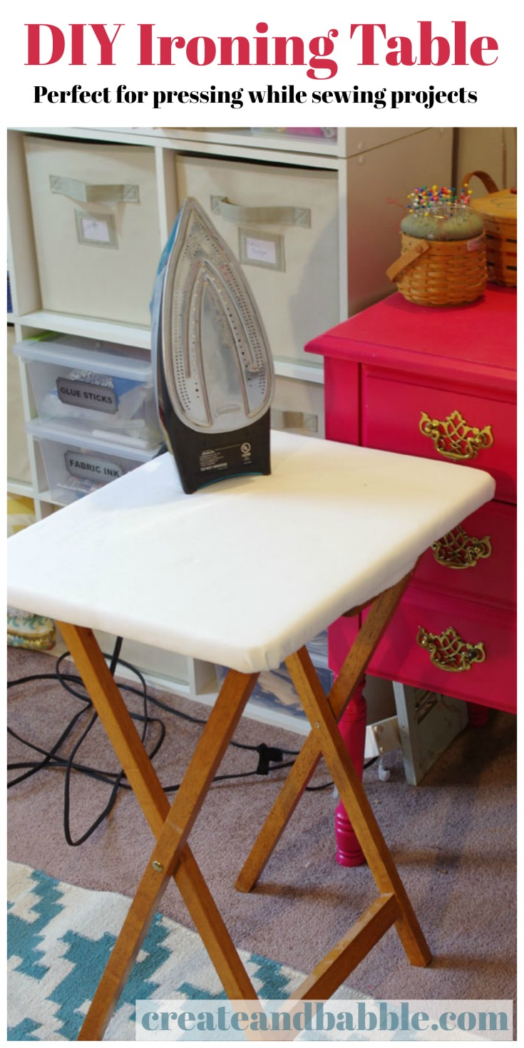 DIY PORTABLE IRONING TABLE