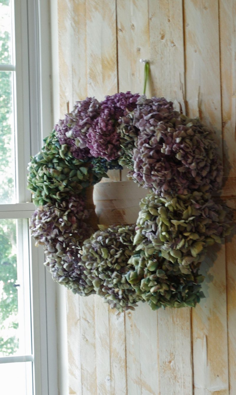 Easy to make hydrangea wreath