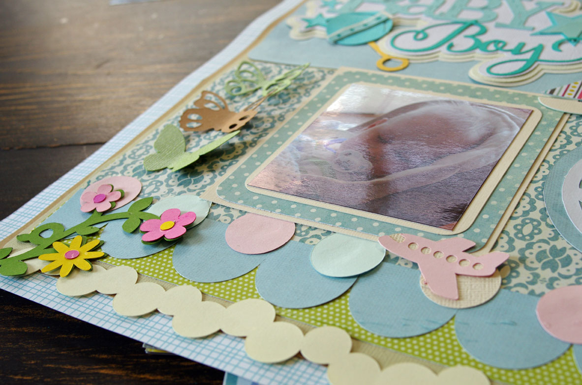 Making pretty scrapbook pages