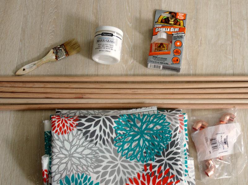 DIY Copper and Wood Magazine Rack