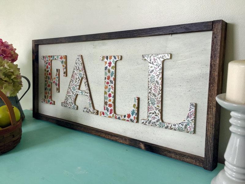 DIY Fall Wall Art