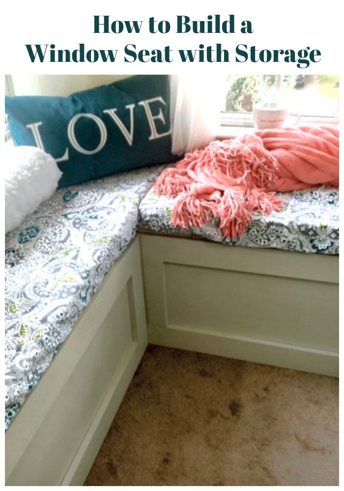 How to Build a Window Seat with Storage. An easy DIY