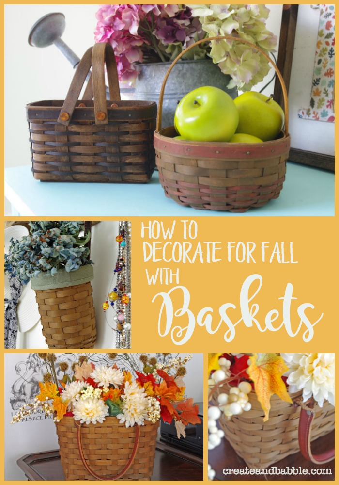 How to Decorate For Fall with Baskets