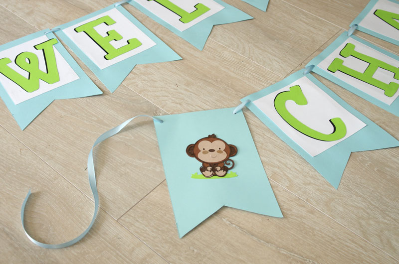 how to make a simple baby shower banner create and babble