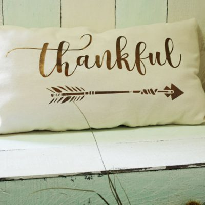 Reversible Holiday Pillow Made With Metallic Heat Transfer Vinyl & SVG Files