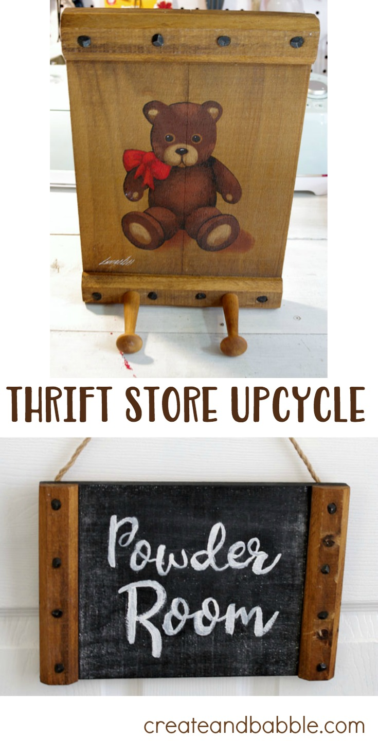 Thrift Store Makeover. From 80's to farmhouse.