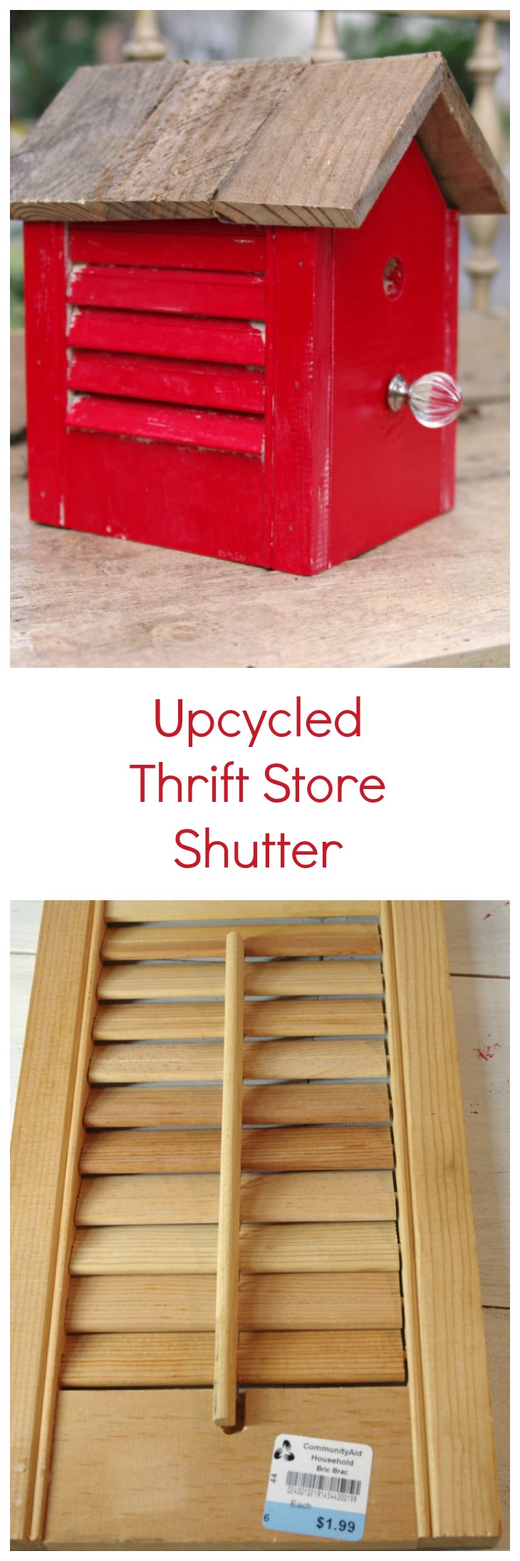 Upcycled Thrift Store Shutter