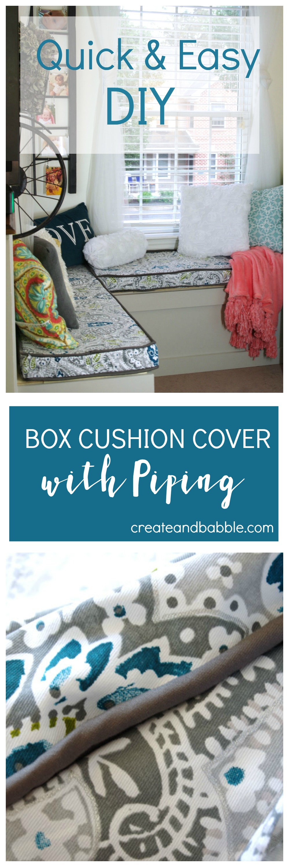 Tips For Making A Box Cushion Cover With Piping Create And