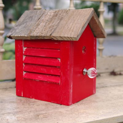 How To Make A Rustic Birdhouse From Old Shutter
