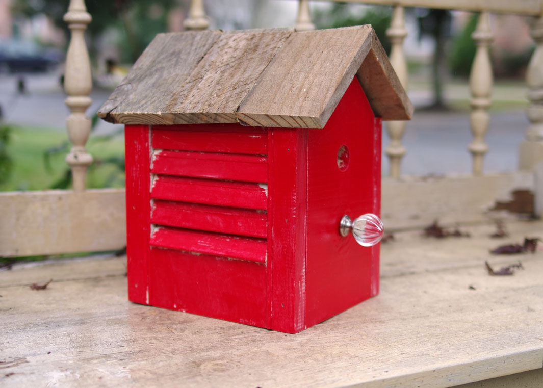 Fantastic How To Make A Rustic Birdhouse From Old Shutter Create And Interior Design Ideas Tzicisoteloinfo
