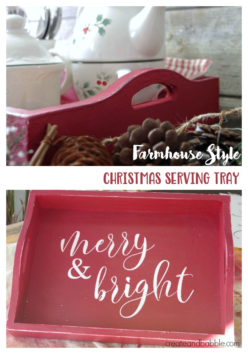 Farmhouse Christmas Serving Tray