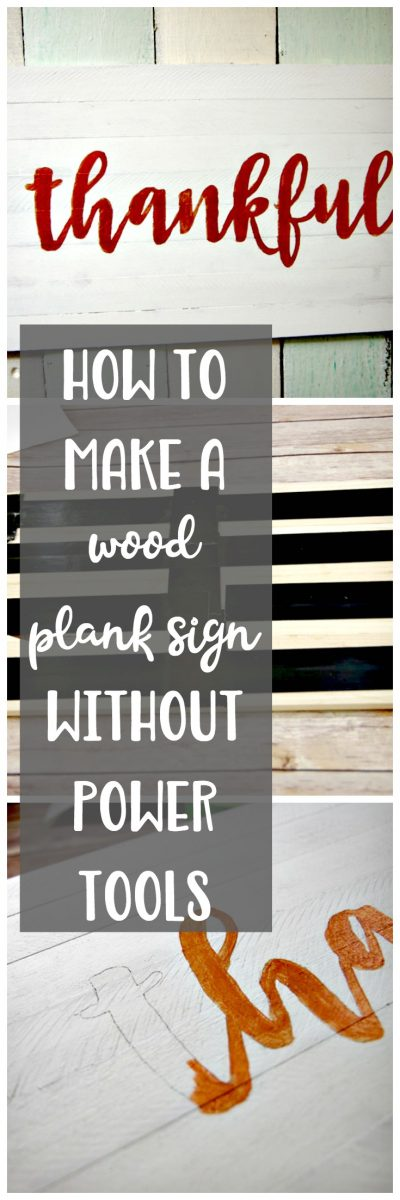 How to Make a Wood Plank Sign Without Power Tools
