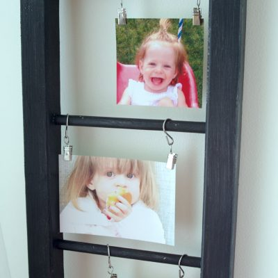 How to Make a Farmhouse Style Wooden Ladder for Photo Display