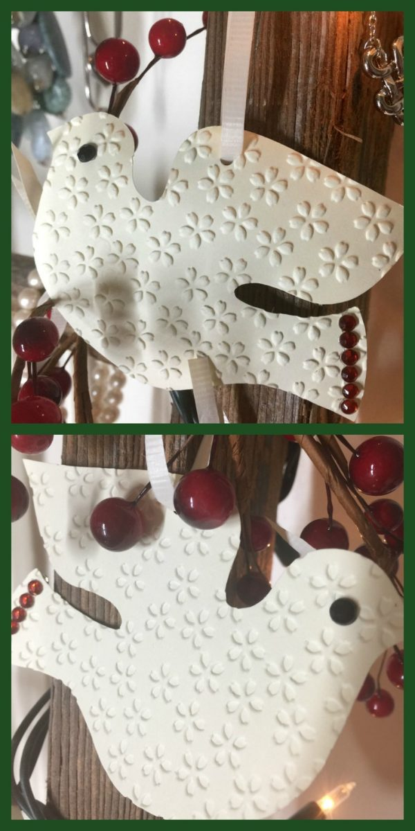 How to make paper dove ornaments