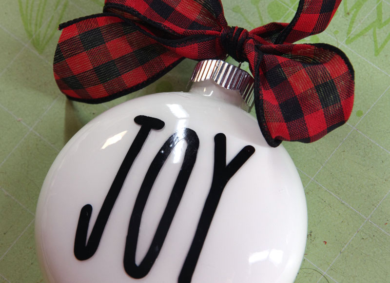 Rae Dunn Inspired Christmas Ornament