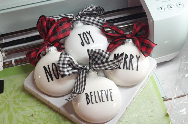 Easy DIY Rae Dunn Inspired Christmas Ornaments
