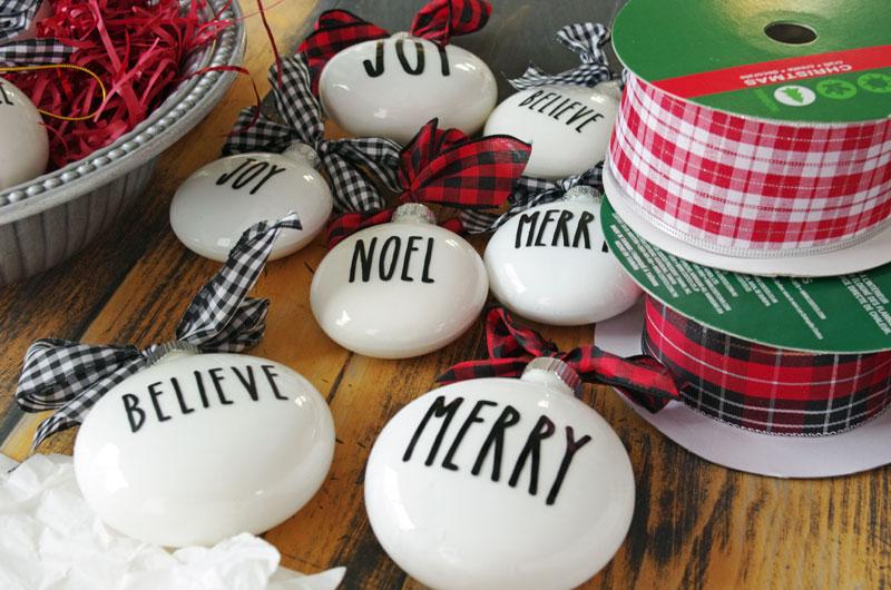 Rae Dunn Inspired Christmas Ornament