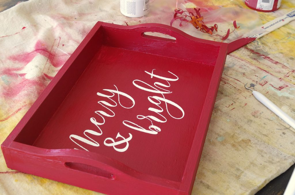 DIY Christmas Serving Tray