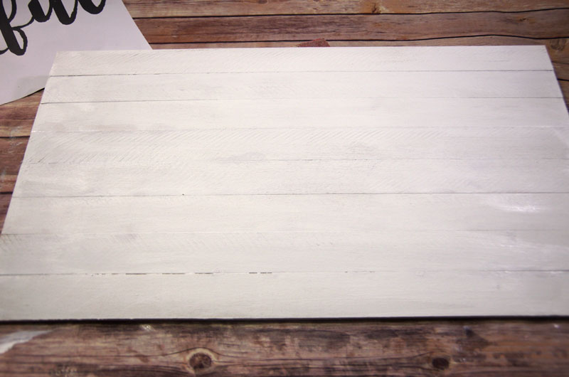 Painted DIY Wood Plank Sign