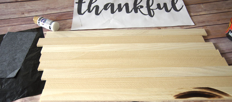 Wood cut to size for DIY Wood Plank Sign