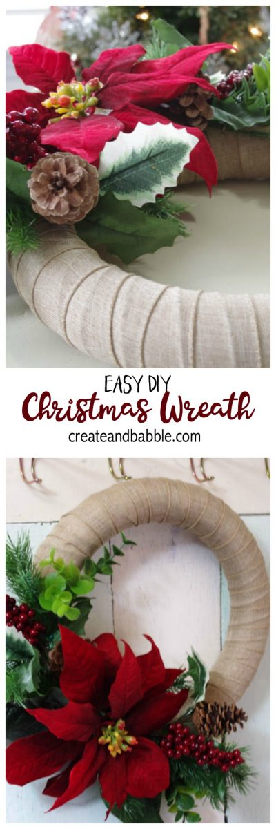 Easy Christmas Wreath to make