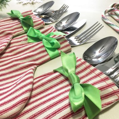 How to Make Fabric Silverware Christmas Stocking Holders with Cricut Maker