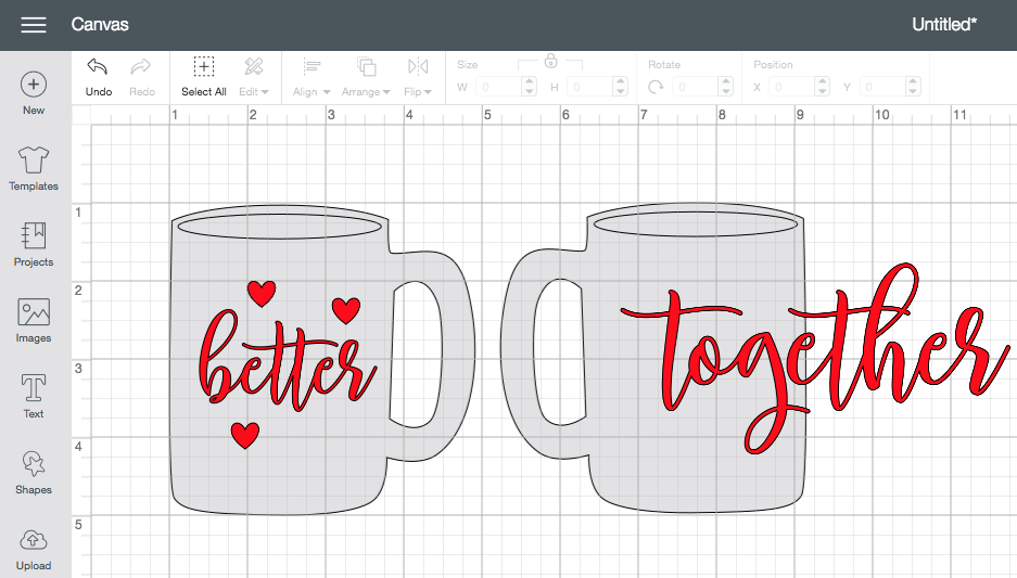How to Make Valentine's Day Mugs with Cricut