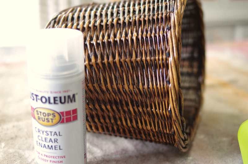 how to age wicker baskets