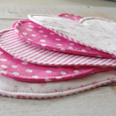 Easy to Make Heart Shaped Fabric Coasters Using Cricut Maker