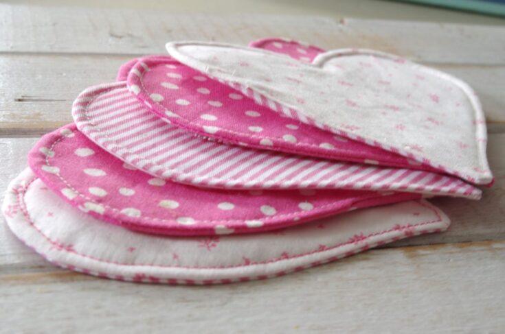 Easy to Make Heart Shaped Fabric Coasters Using Cricut Maker