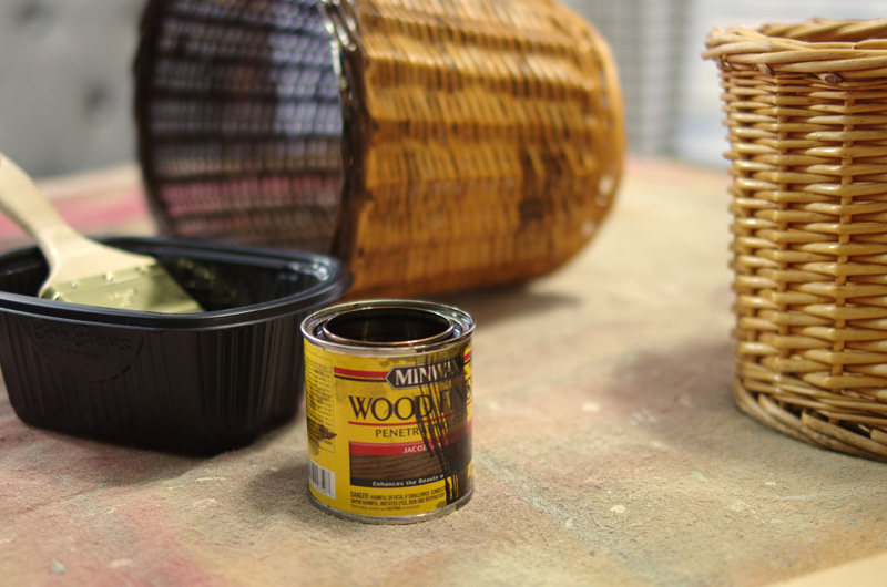 How To Age Wicker Baskets Create And Babble
