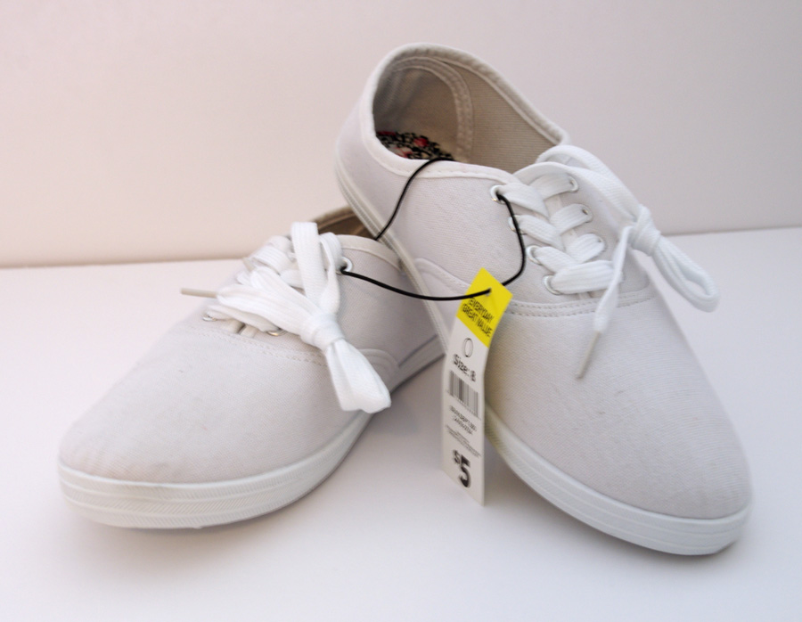 Dollar Store Sneakers - Create and Babble
