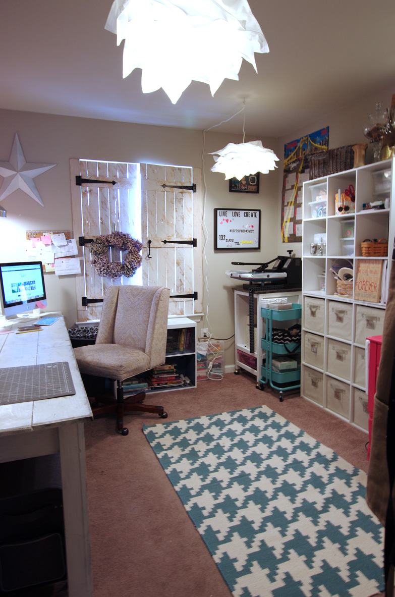 How to Organize a Craft Room Work Space   The Happy Housie  Cute For Craft Rooms Furniture