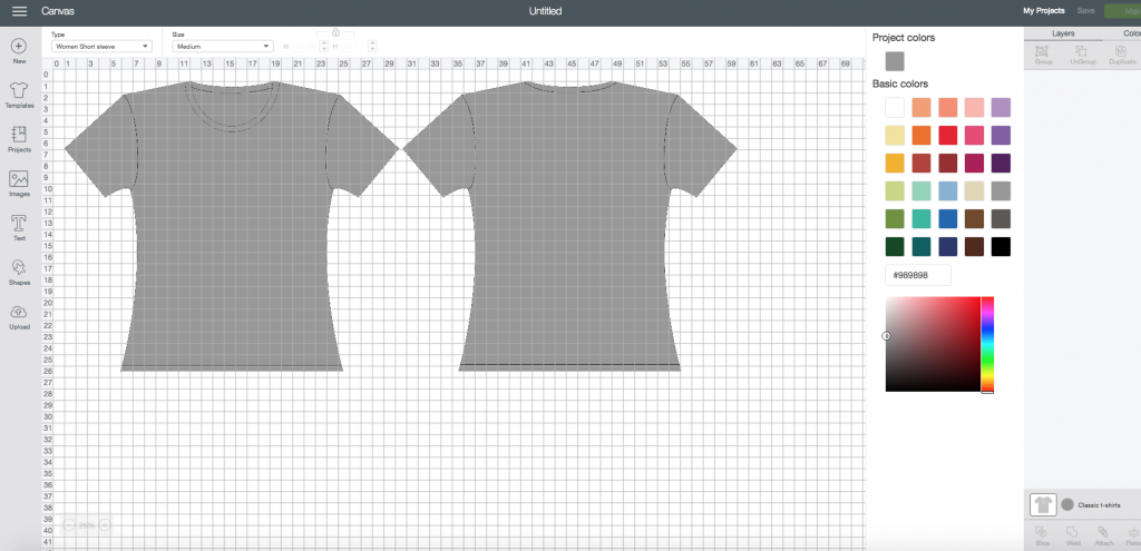 How To Make Graphic T Shirts In Cricut Design Space