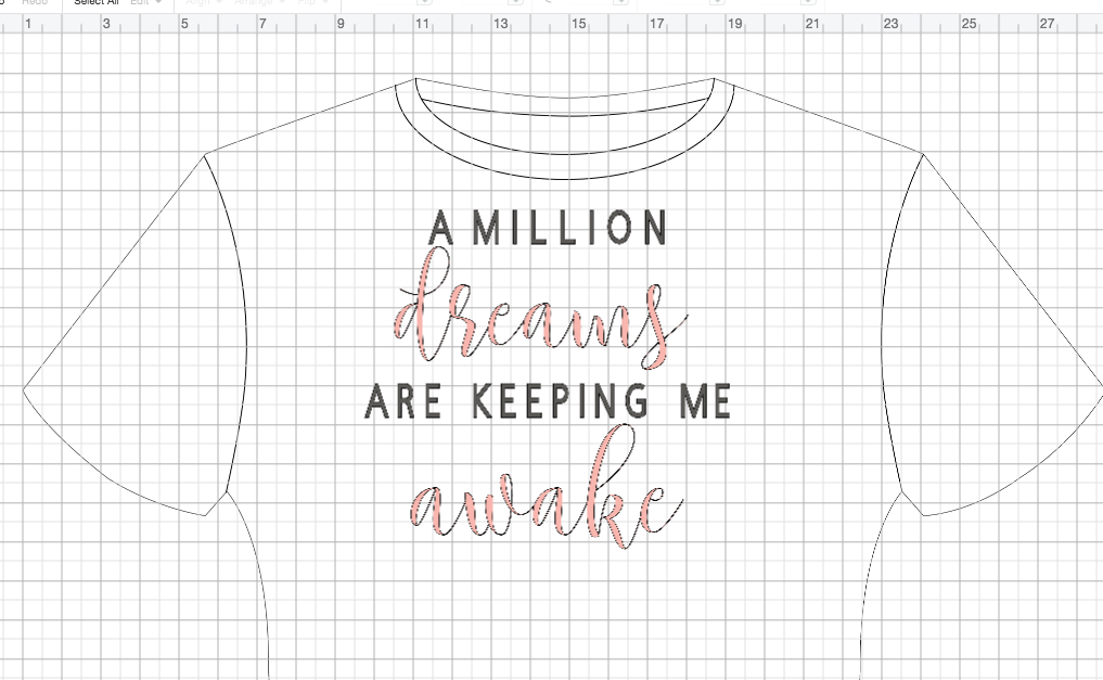 how to design a tee shirt in Cricut Design Space